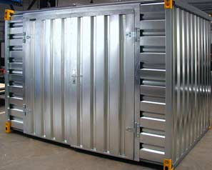 demountable container, storage, container with bunded floor, container made of galvanized steel