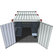 demountable container, storage, container with bunded floor, container made of galvanized steel,